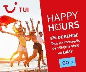 Bon plan Happy Hours Mercredi: 5% de remise supplémentaire sur votre réservation