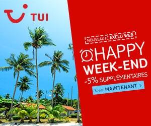 Code promo Happy Week-end: -5% supplémentaires sur votre réservation